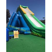 Quality hippo giant inflatable water slide for kids and adults for sale