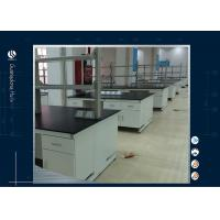 China Stainless Steel Laboratory Island Bench ,  Customized Two Layers Science Lab Countertops on sale