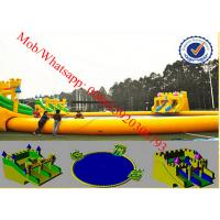 amusement park water slide water park design giant inflatable water slide for adult Manufactures