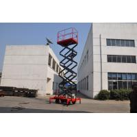 7.5 meters height mobile hydraulic lift platform with motorized device loading capacity at 450Kg Manufactures