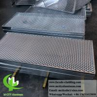 Metal Aluminum Expanded Panel Mesh Screen Powder Coated For Facade Manufactures