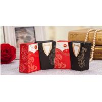 Quality Gold Laser Paper Personalized Wedding Party Favor Boxes With Ribbon Pantone Color for sale