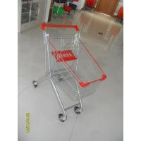 Q195 Supermarket Push Cart 60L Capacity Small Shopping Trolley 750x461x935mm Manufactures