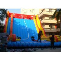 Commercial Giant Plato 0.55mm PVC Tarpaulin Inflatable Slide For Adults 12 * 8m Manufactures