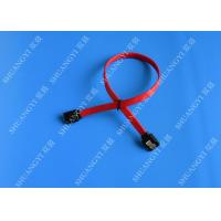 26 AWG SATA III 6.0 Gbps Female to Female SATA Data Cable , Red HDD SATA Cable 7 Pin Manufactures