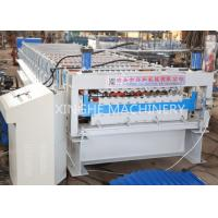 Quality Corrugated Wall Panel Roll Forming Machine , Aluzinc Double Layer Roofing Sheet for sale