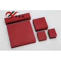 Red Special Paper Jewelry Boxes Set Customized Logo For Jewelry Storage