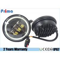 30W Cree 4.5 Inch Motorcycle LED Headlights With Angel Eye Halo Ring Manufactures