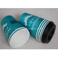 China Eco Friendly Paper Disposable Hot Chocolate Cups With Lids Customized Logo on sale