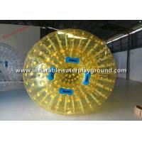 Yellow TPU Human Inflatable Soccer Zorb Ball / Inflatable Human Bumper Ball Manufactures