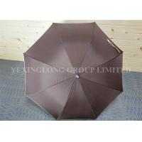 Quality Lightweight Brown Plastic Curved Handle Umbrella Corporate Gift Metal Tips for sale