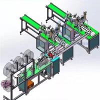 175 * 95mm Face Mask Manufacturing Machine Touch Screen Easy Safe Operation Manufactures