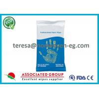 Baby Antibacterial Hand Wipes Individual Packets With Aloe Barbadensis Manufactures