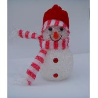 Quality Indoor Colorful Hat Snowman Christmas Lights LED White Body Eco Friendly, Non Toxic for sale