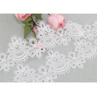 6cm Width Water Soluble Lace Polyester Lace For Clothing Azo Free Manufactures