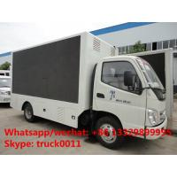 FOTON AOLING 4*2 LHD digital billboard LED advertising vehicle for sale,best price foton mobile LED truck with stage Manufactures