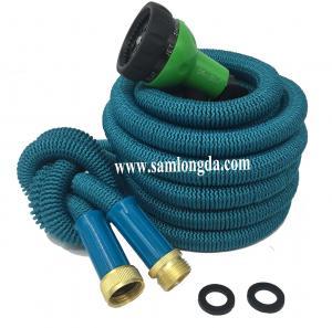 2017 Expandable Garden hose,75FT strongest garden hose, brass quick coupling, green color expanding garden hose Manufactures