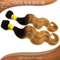 Ombre hair virgin malaysian human hair 1b#/27# 2014 best sellers hair products wholesale price Manufactures