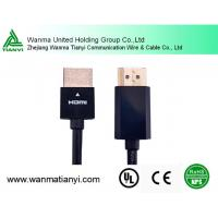 Support 1080p 4K*2K Nickel Plated A Male TO A Male Slim HDMI Cable Manufactures