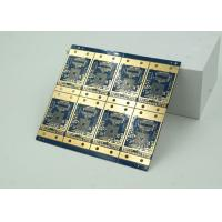 6 Layer High Frequency, Material HDI PCB Blue Solder Mask  BGA Manufactures