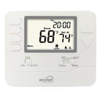 Quality White Backlight FCU Digital HVAC Thermostat For Home / Electric Heat Thermostat for sale