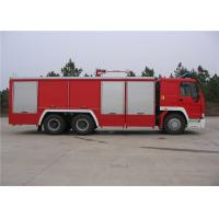 HOWO Chassis Water Tanker Fire Truck With Direct Injection Diesel Engine Manufactures