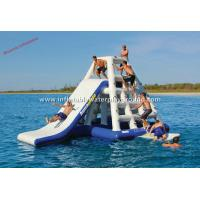 Quality Giant Inflatable Floating Water Slide Outdoor Water Sports With Reinforcement Strip for sale
