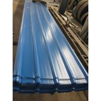 1500 - 3800mm Length JIS G3322 CGLCC, ASTM A792 Prepainted Corrugated Steel Roof Sheets Manufactures