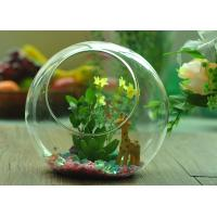 Gift Hanging Teardrop Tealight Holder / Hanging Glass Terrarium Containers Manufactures