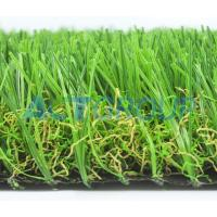 Home Decorative Natural Looking Fake Grass Rug , Smooth Beautiful Fake Grass For Yard Manufactures