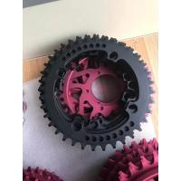 Red / Black Anodized CNC Machining Parts for Bicycle Accessories / Toothed Wheel Manufactures