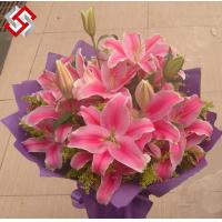 China Artificial PE,Poly Foam,EVA material Best Quality Home Decor wedding bridal bouquet lily on sale