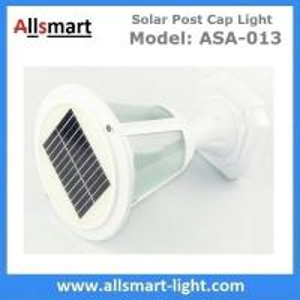 10LED 12Inch Height Aluminum Black or White Westinghouse Solar Lamp Post Caps Solar LED Garden Pillar Landscape Lights Manufactures