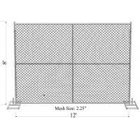 """Standard 8'x10' temporary chain link construction horading fence aperture2¼""""(57mm) x2.7mm ga and 16ga wall thick x 42mm Manufactures"""