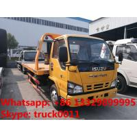 Japan brand ISUZU 4*2 LHD 4tons wrecker truck for sale, best price factory sale ISUZU traffic flatbed breakdown truck Manufactures