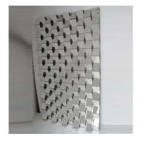 Quality 3D Mirror Brick Tiles , 70 * 120cm Size Contemporary Beveled Mirror Tiles for sale