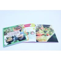 A4 Full Color Cookbook Printing With Spot UV , Perfect binding Manufactures