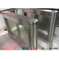 Biometric Swing Barrier Gate Stainless Steel Acrylic Flap Barrier Gate Manufactures