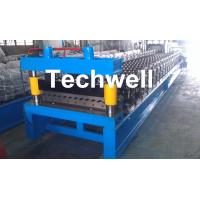 Corrugated Profile Roll Forming Machine , Corrugated Sheet Making Machine With PLC Control System
