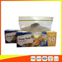 Ziplock Plastic Sandwich Bags With Writable Panel , Zipper Food Storage Bags 18 * 17cm Manufactures