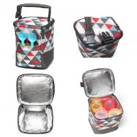 New Arrivals Insulated fashion desgin soft side portable wine breast milk cooler bag 4 bottle for baby picnic Manufactures