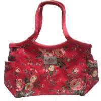Cotton Red Womens Tote Shopper Bag 600D Full Pattern Size Customized Manufactures