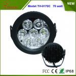 6.2 Inch 70W LED Work Light Flood off Road SUV 4WD ATV Truck Car Super Bright
