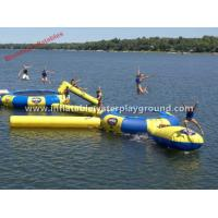 0.9mm Commercial Inflatable Water Trampoline Safety For Water Sports Games Manufactures