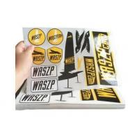 Custom Logo Self Adhesive Vinyl Labels / Warning Stickers Eco Friendly Manufactures