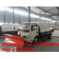 Quality factory sale best price CLW brand road sweeper truck with snow shovel, hot sale road sweeper truck with snow removal for sale