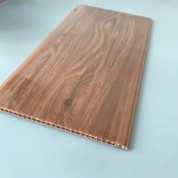 10 Inches Brilliant Brown Color PVC Wood Panels Corrosion Resistance Various Styles Manufactures
