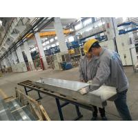 QC Checking Industrial Aluminum Extrusion Profiles with PVDF coating Surface Manufactures