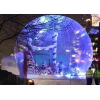 Lighting Inflatable Christmas Snow Globe Bubble Tree For Event Advertisement Manufactures