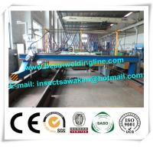 Multiple Strip H Beam CNC Plasma Cutting Machine 4000mm Cutting Width Manufactures